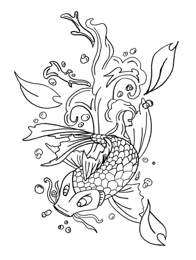realistic koi fish coloring page koi fish coloring pages to download and print for free realistic fish coloring koi page
