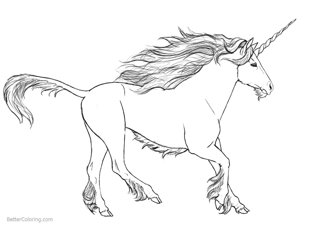 realistic unicorn coloring pages realistic unicorn coloring pages download and print for free realistic unicorn coloring pages 1 1
