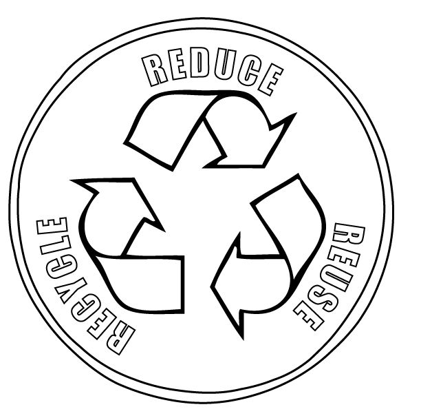 reduce reuse recycle symbol printable recycle coloring page earth day coloring pages earth reuse printable recycle reduce symbol
