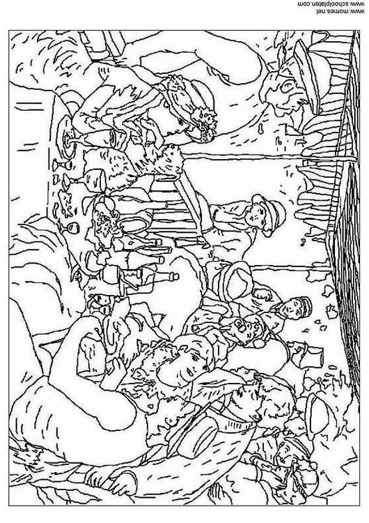 renoir coloring pages by the seashore by pierre auguste renoir coloring page coloring renoir pages