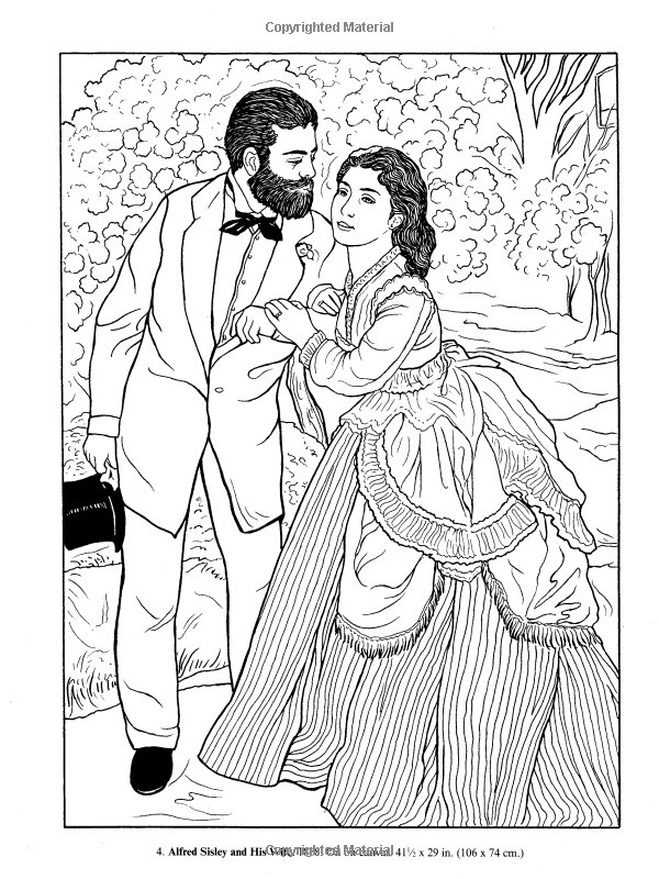 renoir coloring pages famous paintings coloring pages page 6 coloring renoir pages