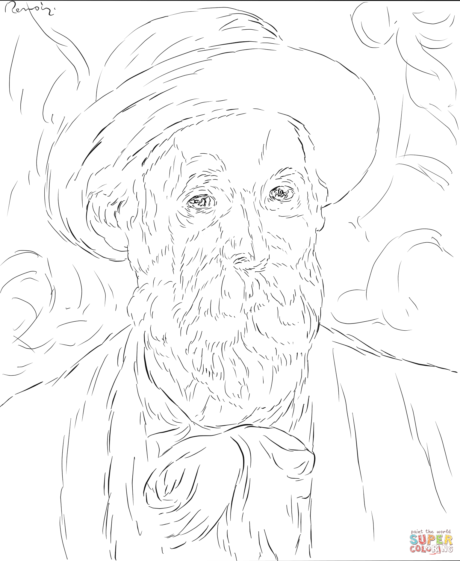 renoir coloring pages on the terrace by renoir renoir colorful pictures renoir pages coloring