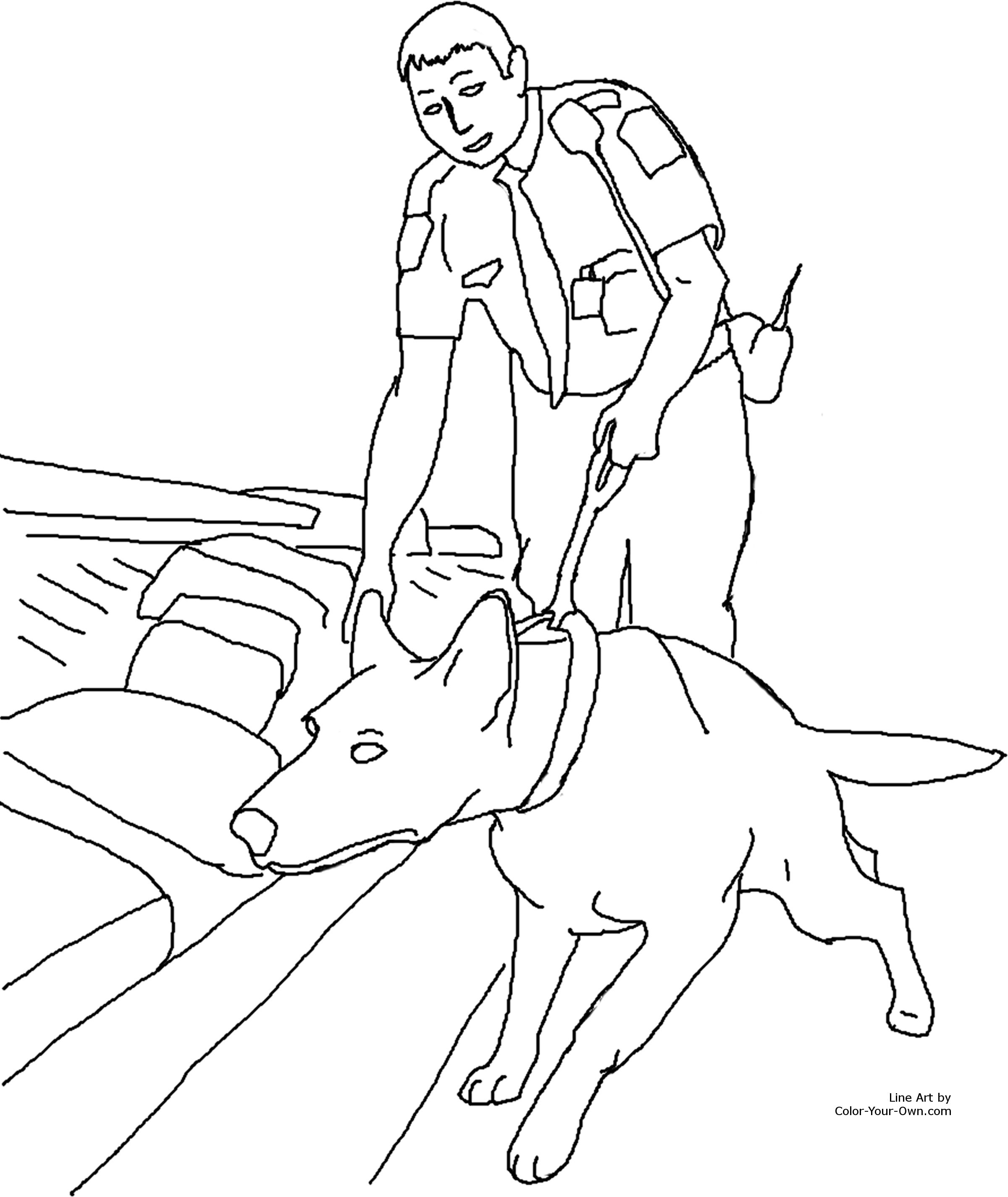 rescue dog coloring pages drug detection service dog coloring page dog rescue pages coloring