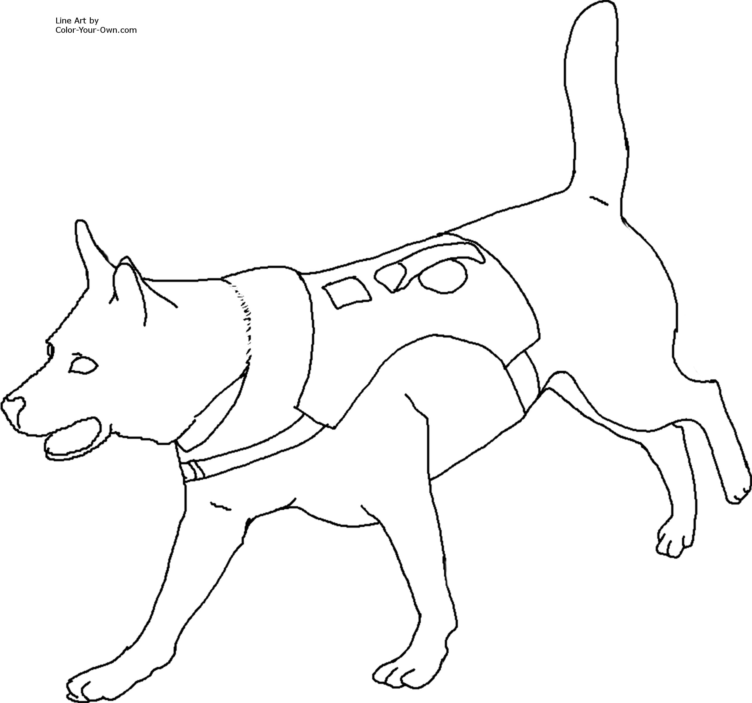 rescue dog coloring pages fbi search and rescue dog clipart clip art library pages dog rescue coloring