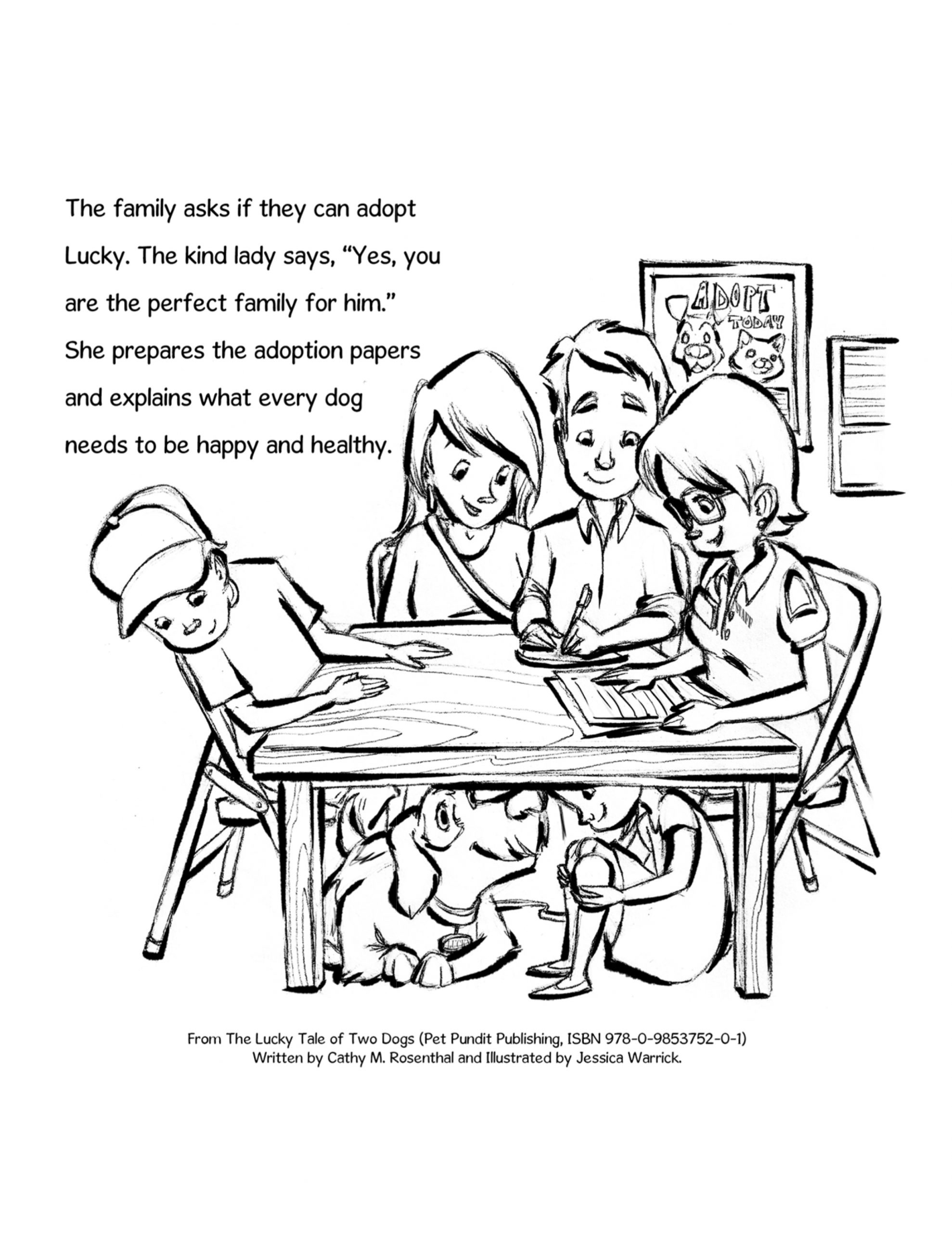 rescue dog coloring pages lucky dog coloring page adoption at animal shelter pet coloring pages rescue dog