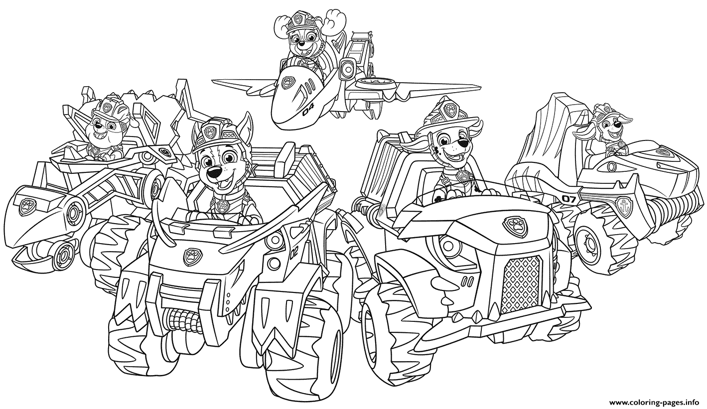 rescue dog coloring pages paw patrol pups from dino rescue coloring pages printable coloring rescue pages dog