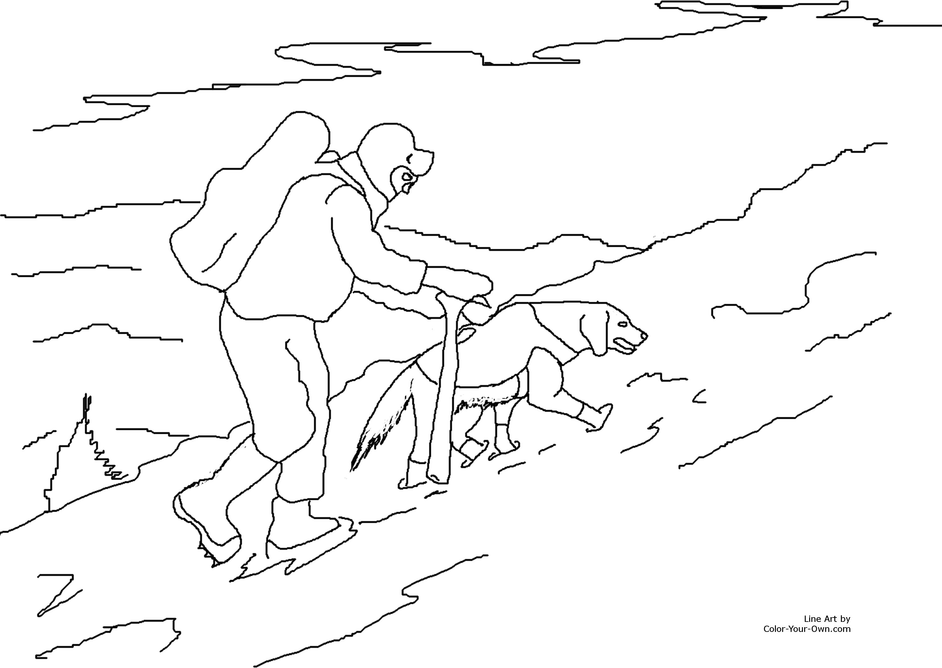 rescue dog coloring pages search and rescue dog in snow coloring page coloring pages dog rescue