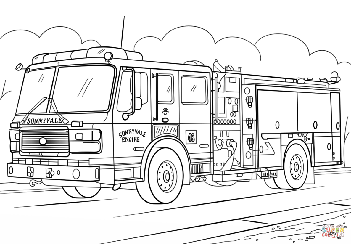 rescue truck coloring pages fire truck coloring page free printable coloring pages rescue pages truck coloring