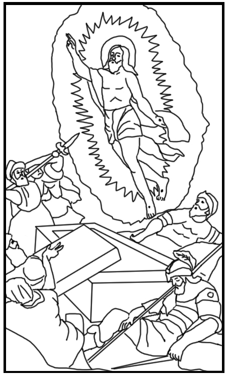 resurrection coloring pages jesus coloring pages free download on clipartmag coloring resurrection pages