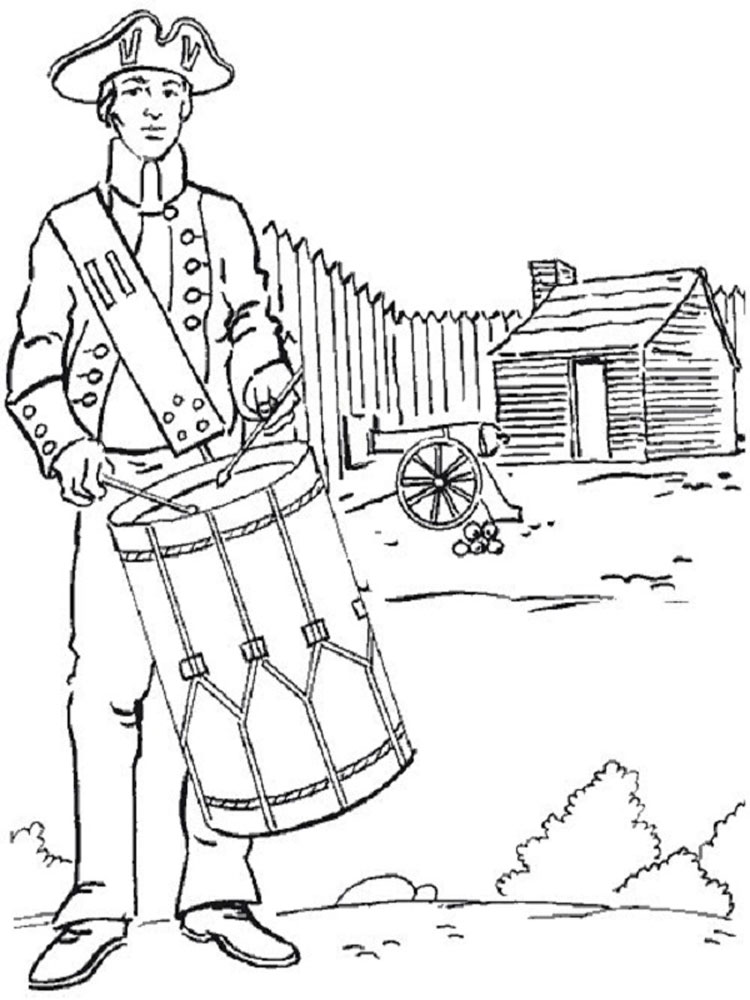 revolutionary war coloring pages 13 colonies drawing at getdrawings free download revolutionary coloring war pages