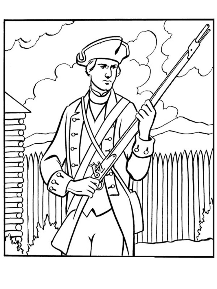 revolutionary war coloring pages american revolutionary war coloring pages download and war coloring revolutionary pages