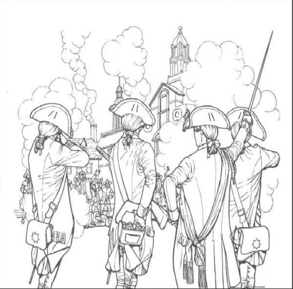 revolutionary war coloring pages revolutionary war drawing at getdrawings free download revolutionary war coloring pages