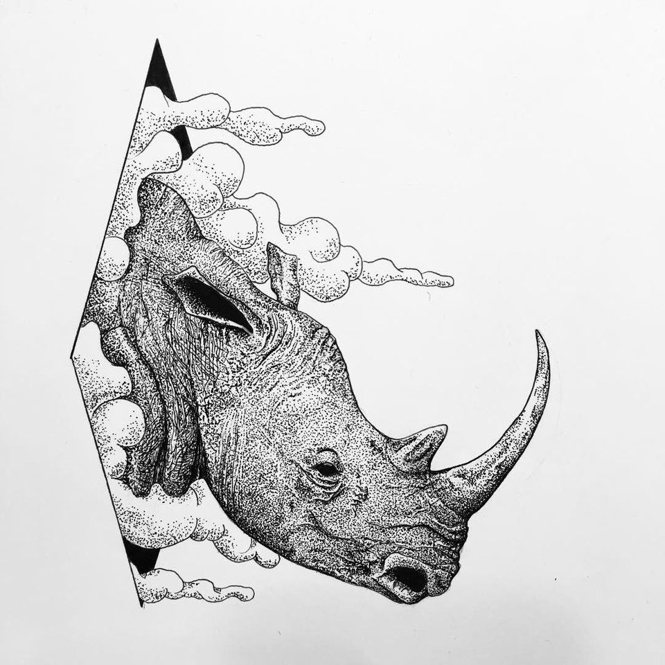 rhino drawings how to draw a rhino draw central rhino drawings