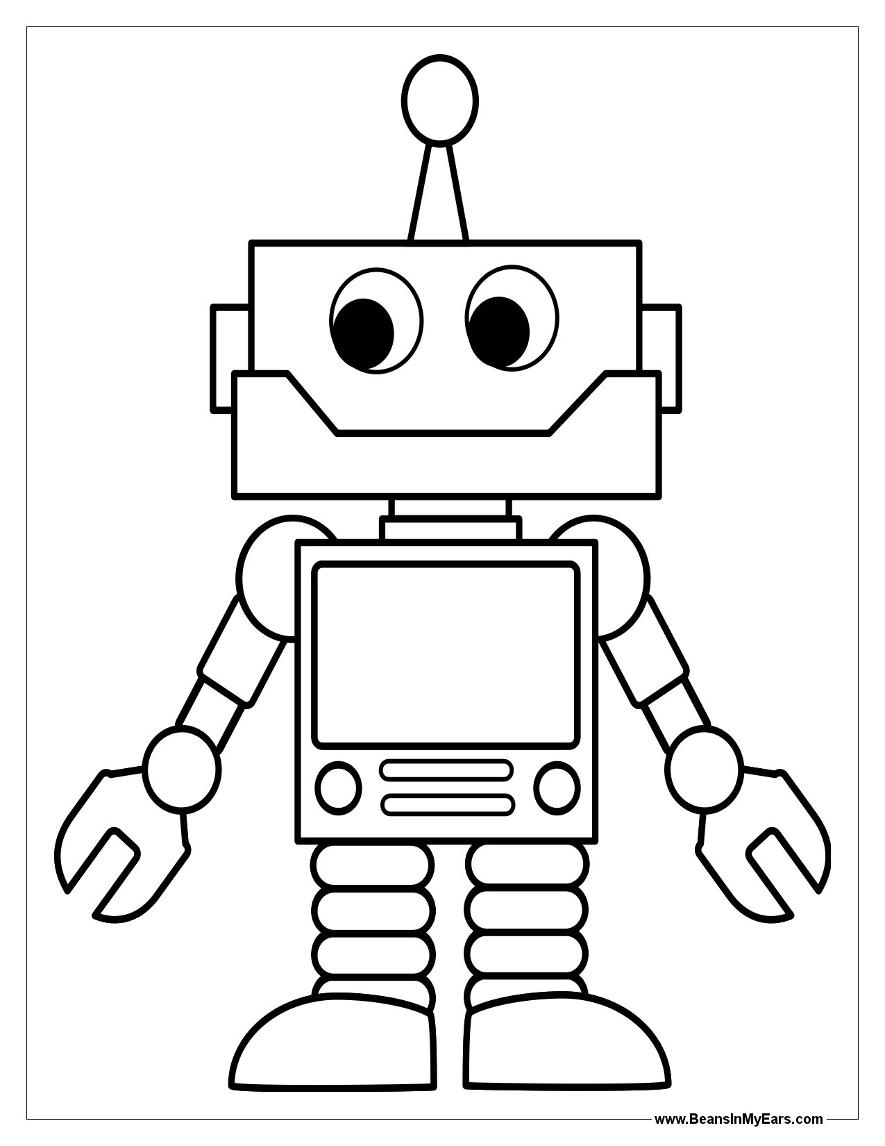 robot coloring picture free printable robot coloring pages for kids cool2bkids picture coloring robot