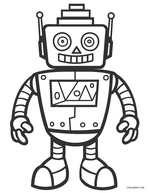 robot coloring picture free printable robot coloring pages for kids robot picture coloring