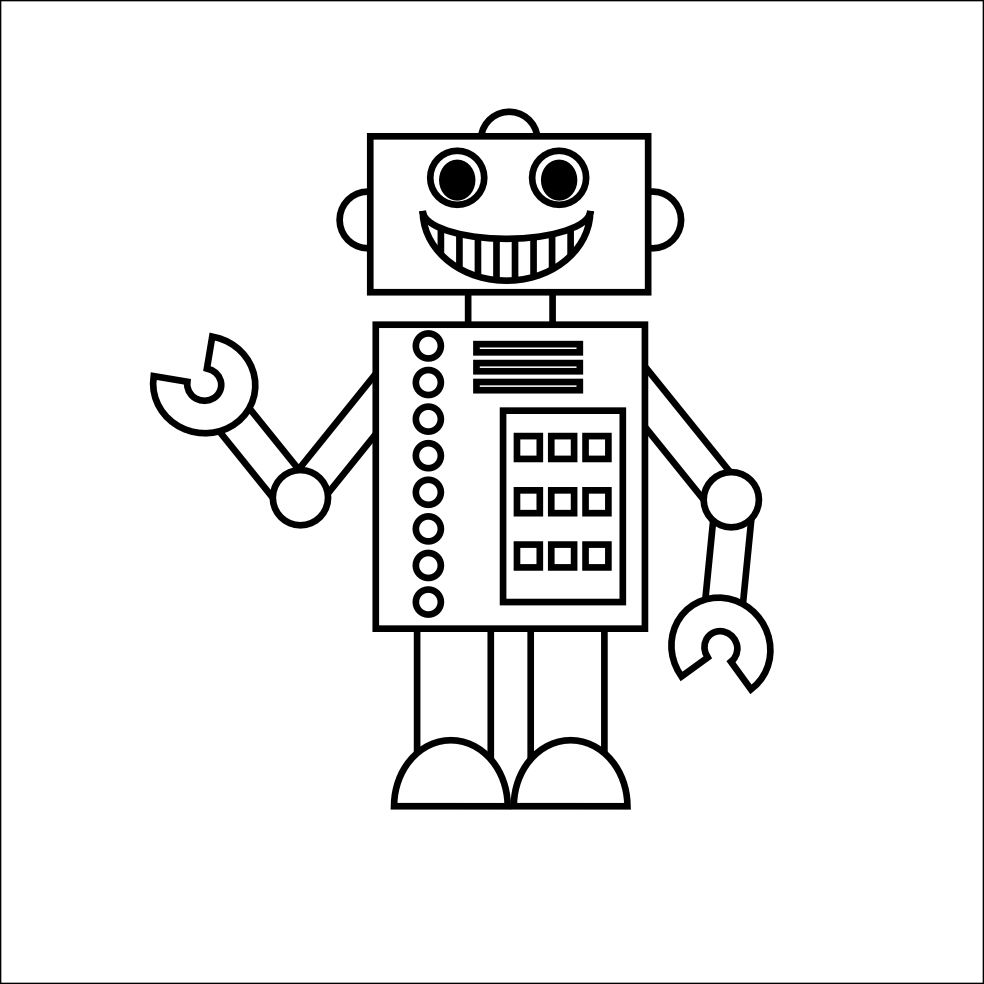robot coloring picture robot coloring page picture coloring robot