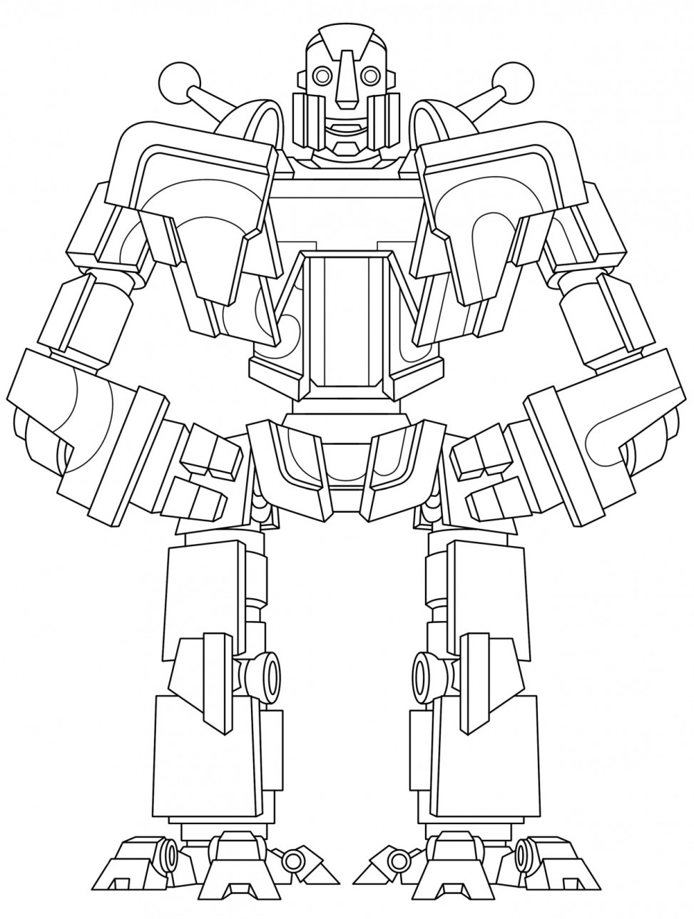 robot coloring picture sample page from my 1st robot coloring book quotbenerator coloring picture robot