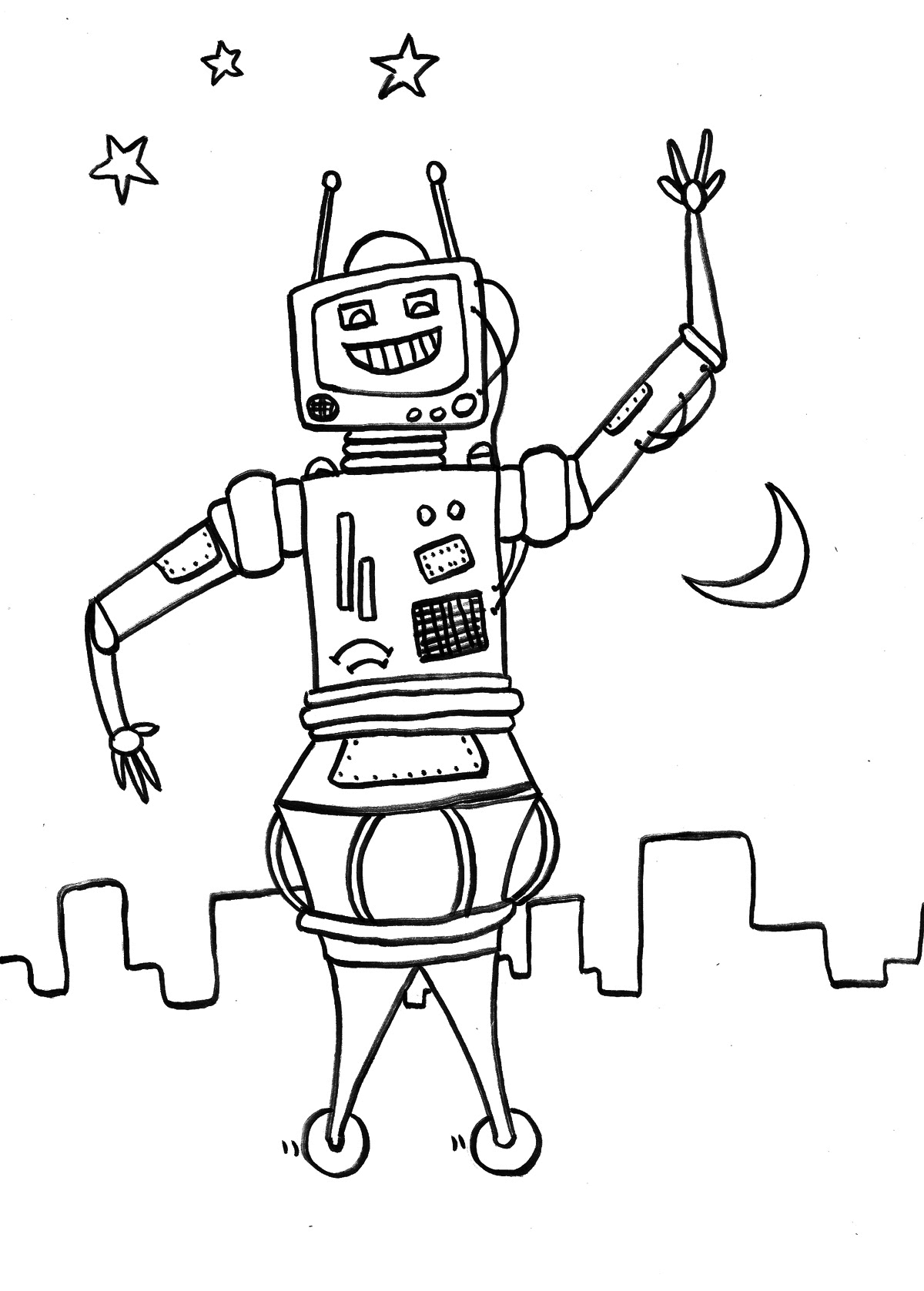robot for coloring free printable robot coloring pages for kids robot coloring for 1 1