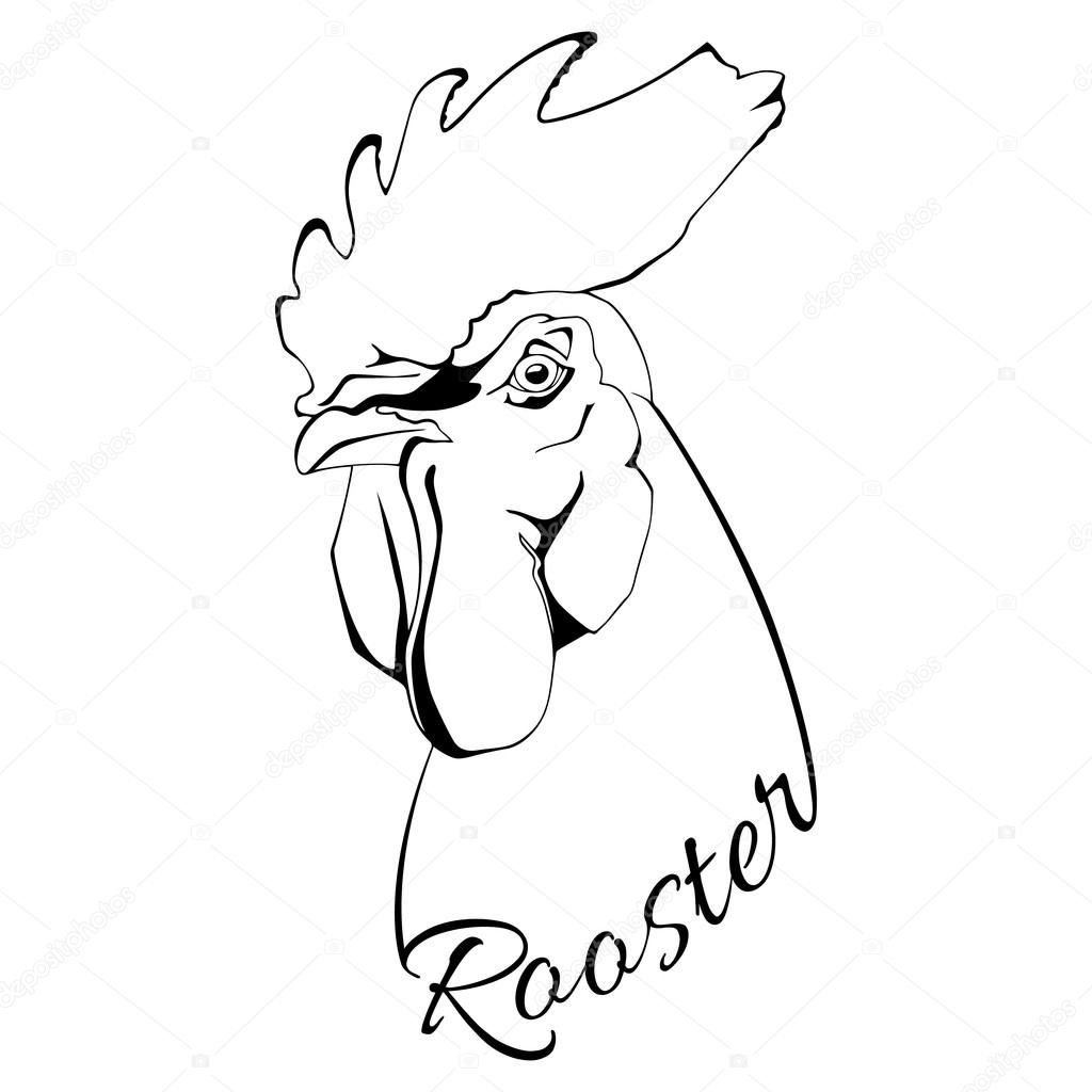 rooster outline rooster drawing outline at getdrawings free download rooster outline