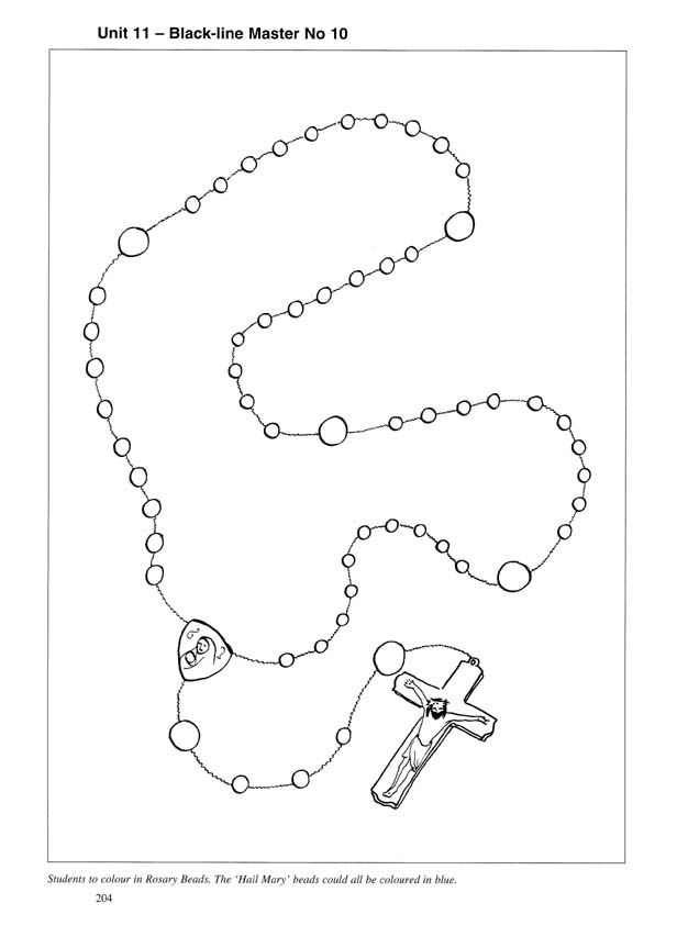 rosary coloring page rosary coloring pages family in feast and feria rosary coloring page