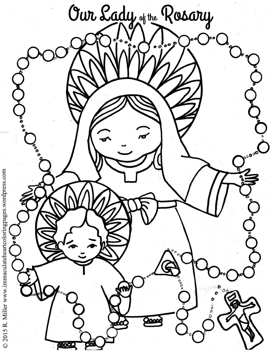 rosary coloring page the rosary coloring home rosary page coloring