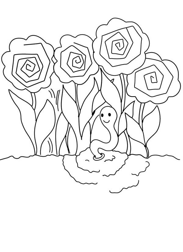 rose garden coloring page digging hole for rose flower garden coloring pages color rose coloring garden page