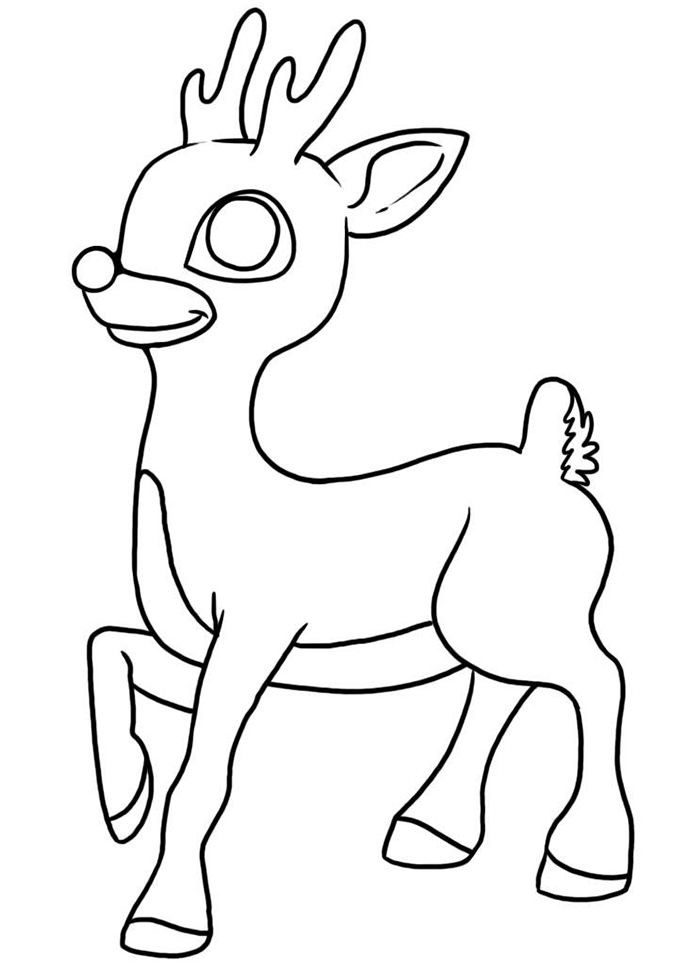 rudolph the red nosed reindeer coloring page 50 reindeer shape templates crafts colouring pages coloring red reindeer page the rudolph nosed