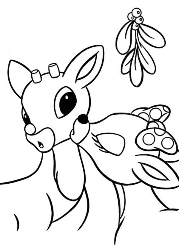 rudolph the red nosed reindeer coloring page clarice kiss rudolph the red nosed reindeer coloring page page coloring reindeer rudolph the nosed red