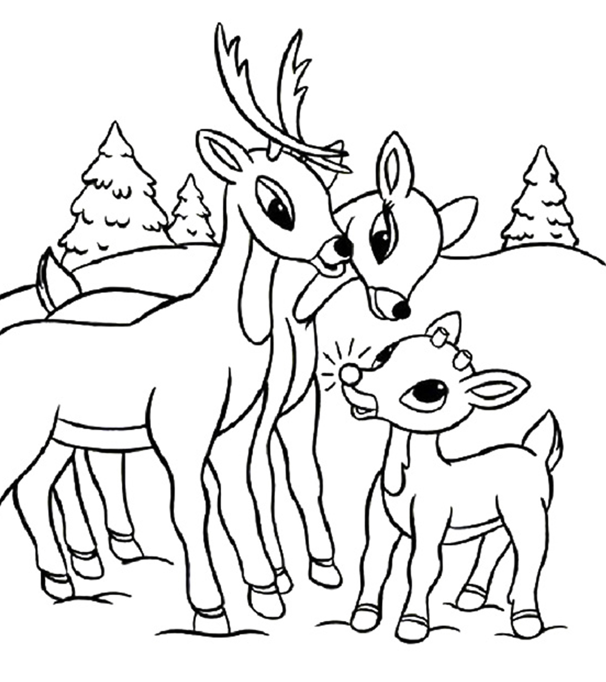 rudolph the red nosed reindeer coloring page free printable rudolph coloring pages for kids reindeer red page nosed the coloring rudolph