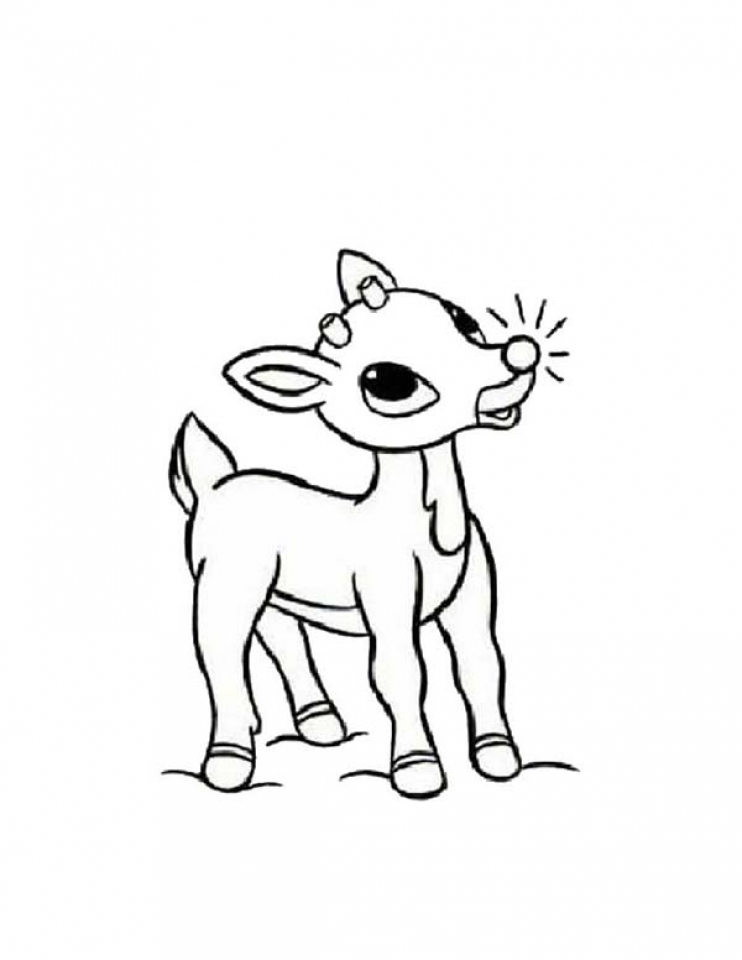 rudolph the red nosed reindeer coloring page rodof the red nois rainder free colouring pages coloring nosed reindeer red page rudolph the