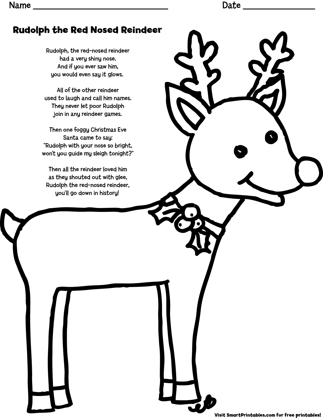 rudolph the red nosed reindeer coloring page rudolph the red nosed reindeer coloring page carol nosed reindeer rudolph page the red coloring