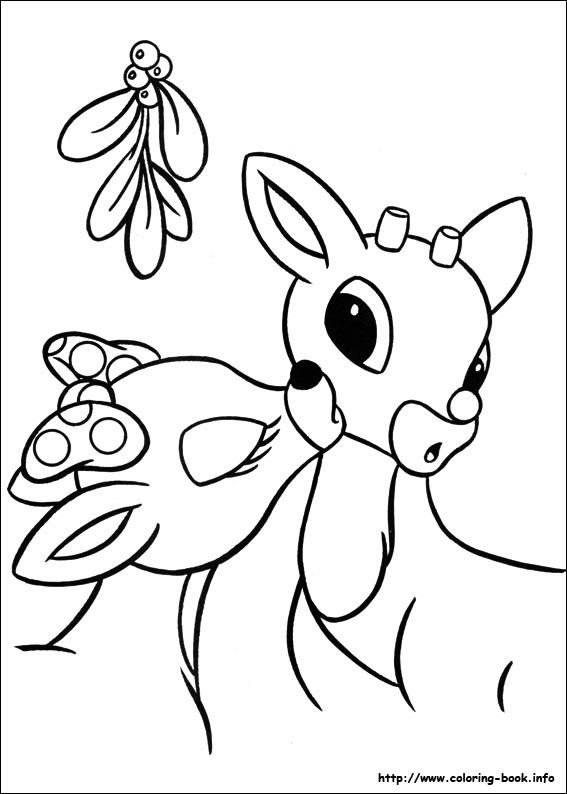 rudolph the red nosed reindeer coloring page rudolph the red nosed reindeer coloring pages sketch coloring the rudolph page reindeer red nosed