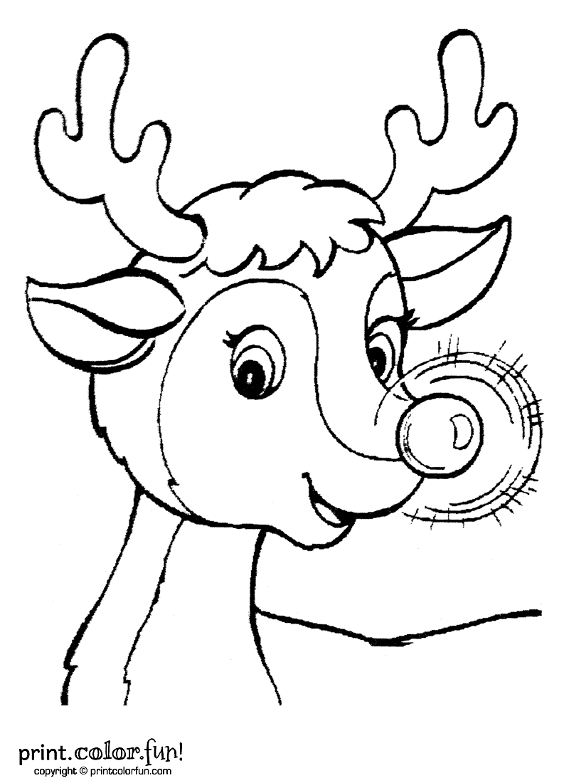 rudolph the red nosed reindeer coloring page rudolph the red nosed reindeer movie coloring pages the reindeer rudolph red nosed page coloring