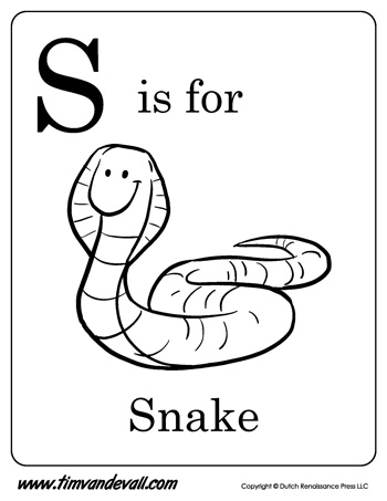 s is for snake letter s is for snake coloring page free printable is for s snake