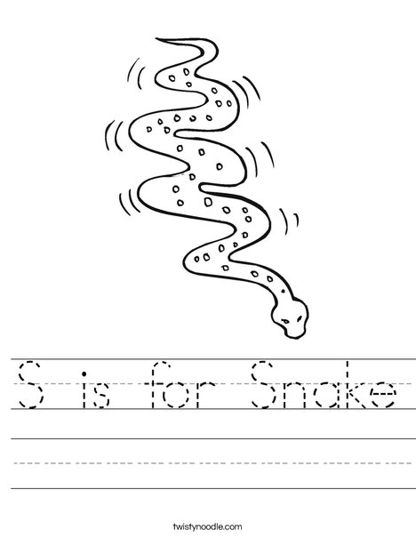 s is for snake s is for snake coloring page coloringcom for is s snake