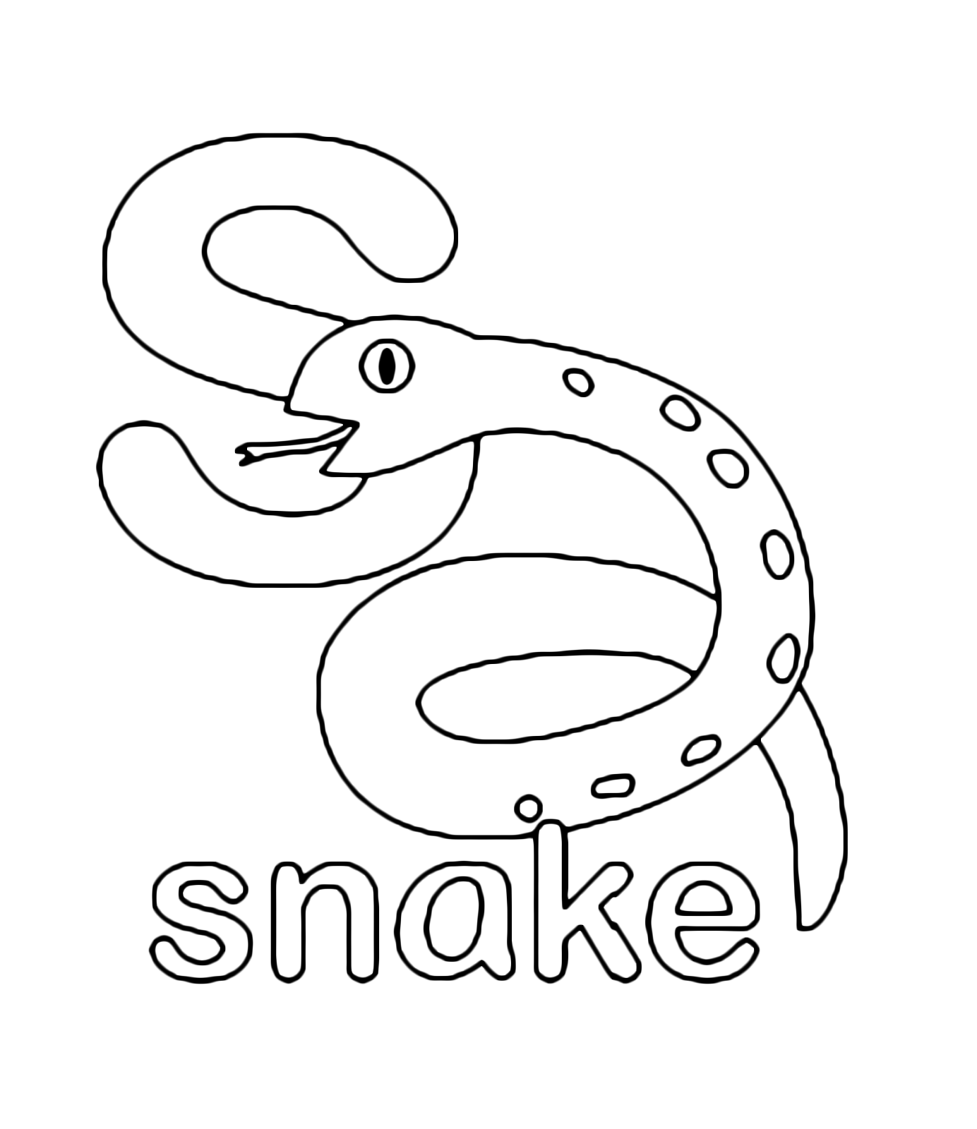 s is for snake s is for snake coloring page s snake is for