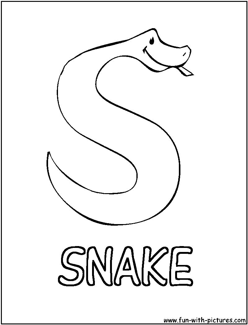 s is for snake s is for snake page coloring pages snake for s is