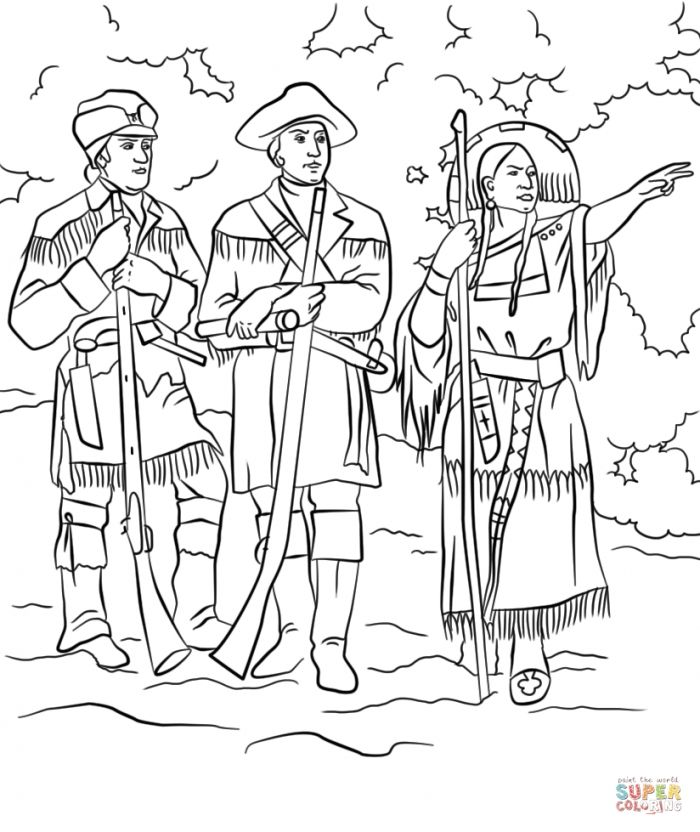 sacagawea coloring page sacagawea coloring page craft or poster with mini page coloring sacagawea