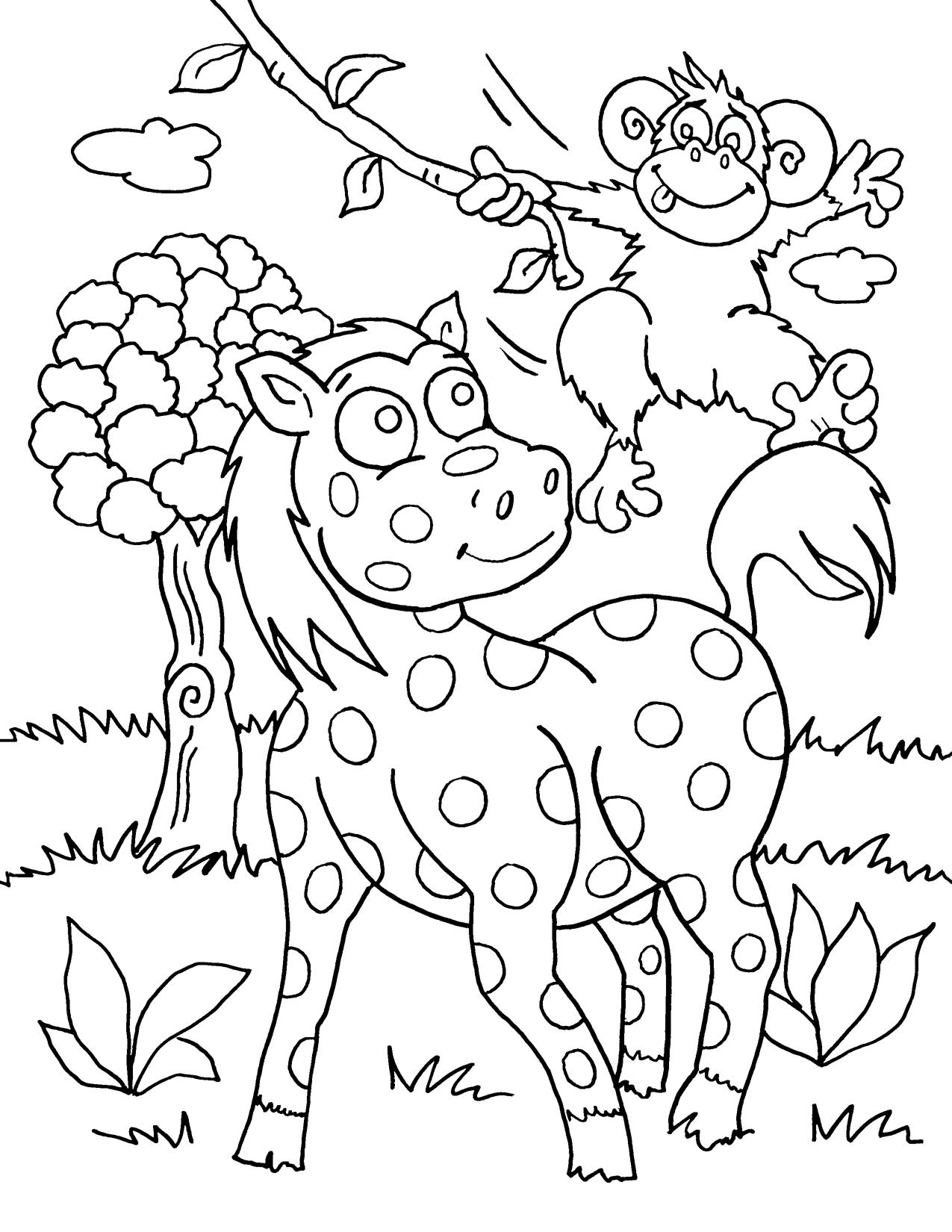 safari animal coloring pages cartoon safari animals coloring page stock illustration coloring animal safari pages