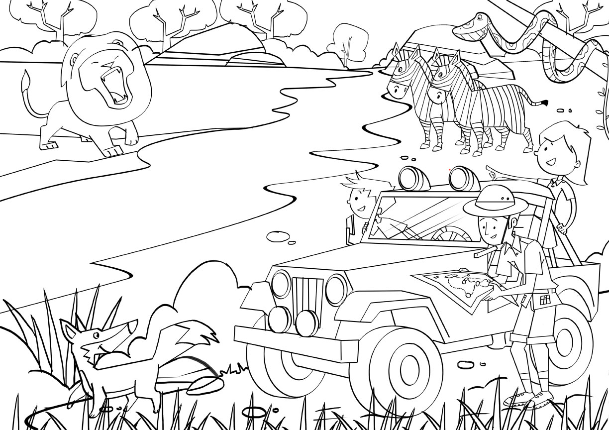 safari animal coloring pages zoo animal coloring pages for toddlers at getdrawings pages coloring safari animal