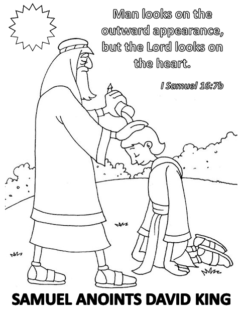 samuel anoints david king coloring page free coloring picture of samuel annointing david yahoo david page samuel anoints coloring king