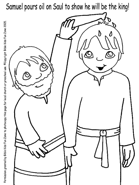 samuel anoints david king coloring page king saul netart anoints coloring david samuel king page