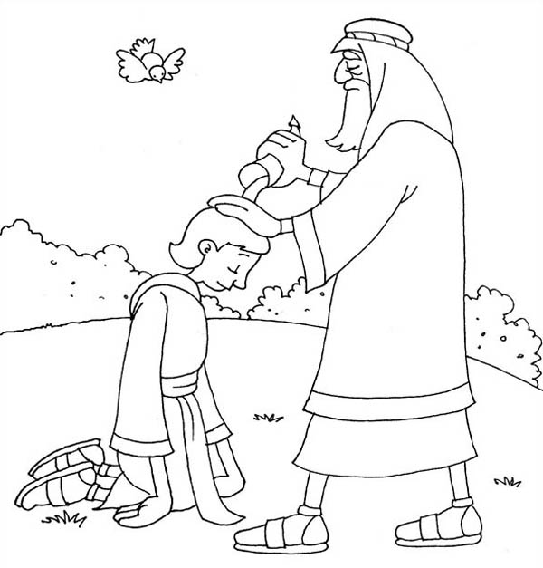 samuel anoints david king coloring page pin on coloring pages page coloring anoints david king samuel