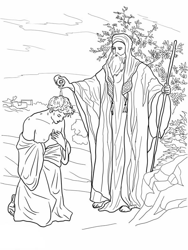 samuel anoints david king coloring page samual anointed saul bible coloring pages sunday school king anoints samuel david coloring page