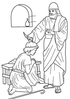 samuel anoints david king coloring page samuel anointing david king coloring page coloring pages anoints samuel coloring king david page