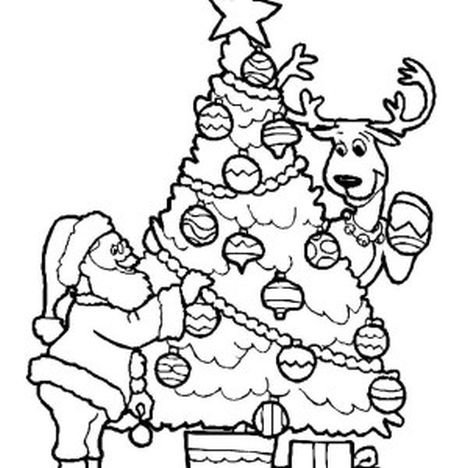 santa and reindeer coloring pages santa and reindeer coloring pages part 1 santa coloring and reindeer pages