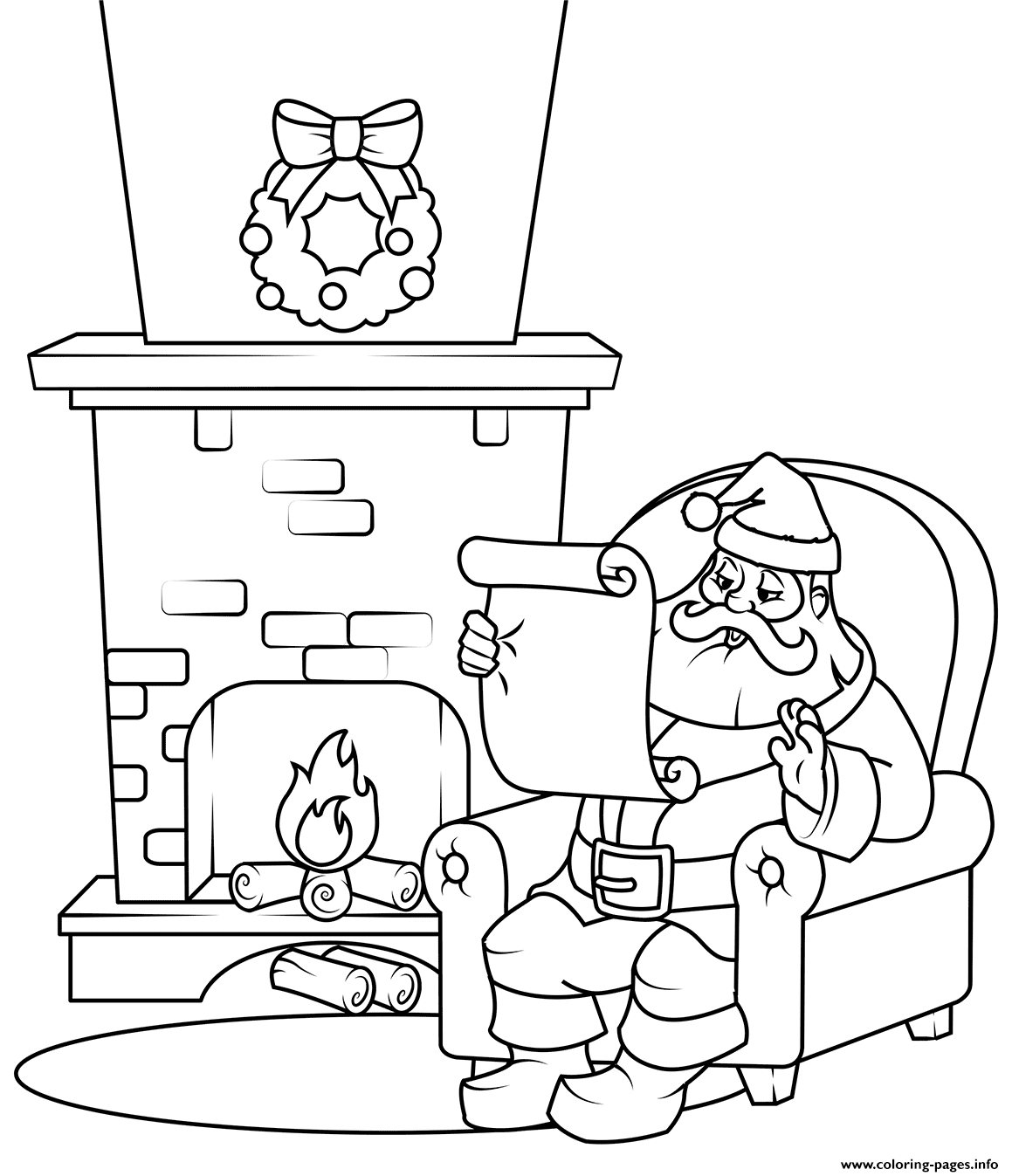 santa checking his list free santa clip art pictures coloring pages letter list santa his checking