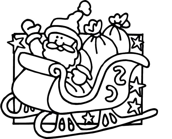 santa in a sleigh coloring page coloring pages of santa and his sleigh at getcoloringscom page sleigh santa coloring a in