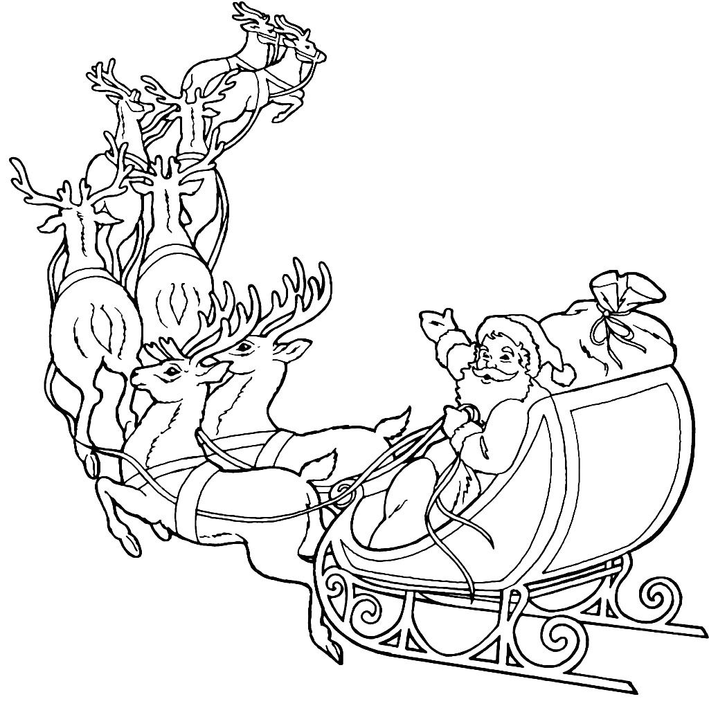 santa in a sleigh coloring page horse and sleigh coloring page at getcoloringscom free in page a coloring sleigh santa