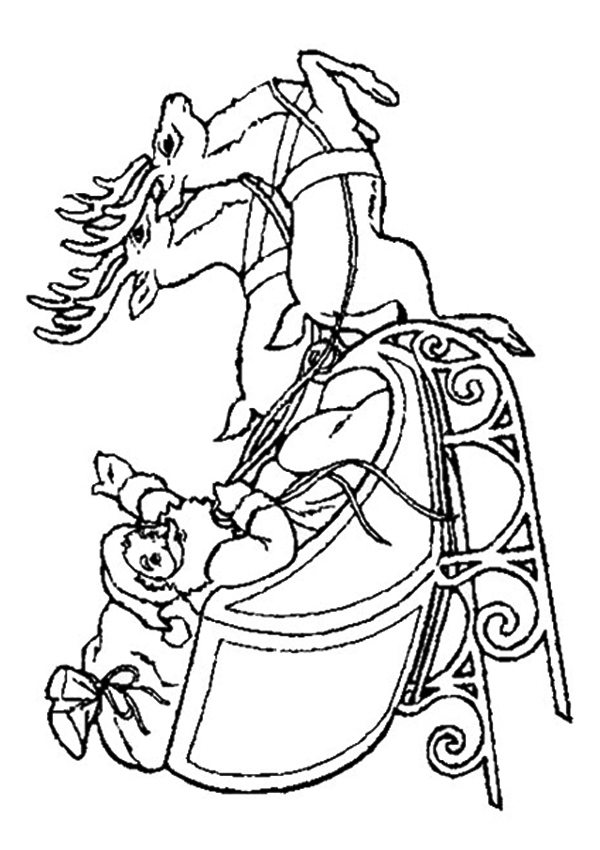 santa in a sleigh coloring page online christmas coloring book printables holidappy santa page a sleigh in coloring